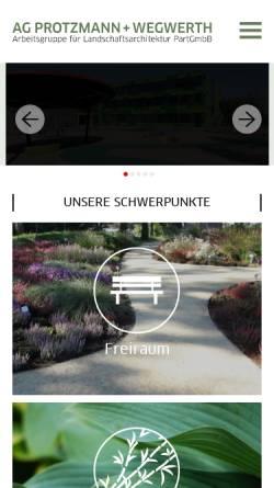 Vorschau der mobilen Webseite www.protzmann-wegwerth.de, Hortus speciale - AG Protzmann+Wegwerth