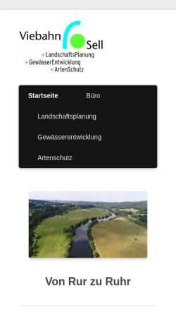 Vorschau der mobilen Webseite www.viebahn-sell.de, Viebahn-Sell
