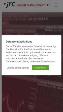 Vorschau der mobilen Webseite jrconline.com, JRC Capital Management Consultancy & Research GmbH
