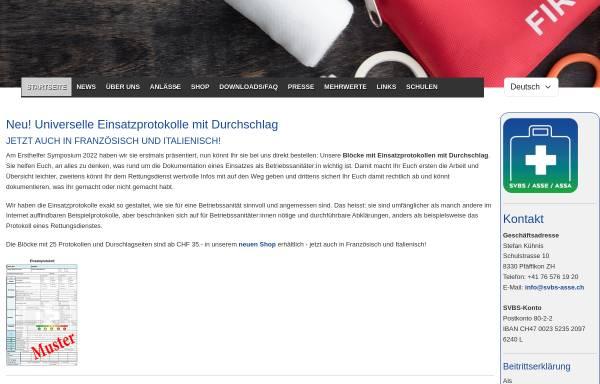 Vorschau von www.svbs-asse.ch, Schweizerische Vereinigung für Betriebssanität