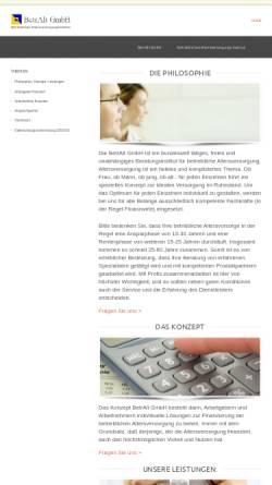 Vorschau der mobilen Webseite www.betralt.de, BetrAlt Betriebliches Altersversorgungs-Institut GmbH