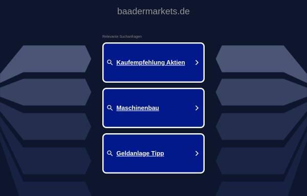 Vorschau von www.baadermarkets.de, Baader Markets