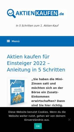 Vorschau der mobilen Webseite www.boersennotruf.de, Boersennotruf.de - René Wolf
