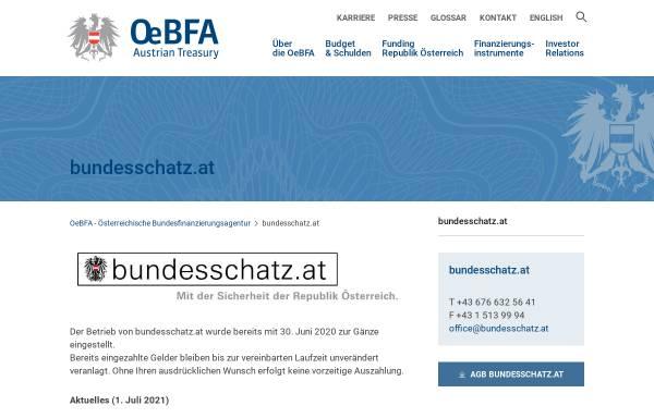 Vorschau von www.bundesschatz.at, Bundesschatz.at - Wertpapiere der Republik Österreich
