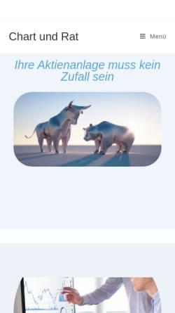 Vorschau der mobilen Webseite www.chartundrat.de, Chart und Rat GbR