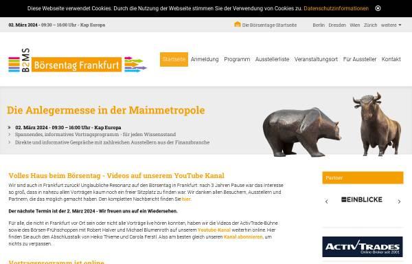 Vorschau von www.frankfurter-boersentag.de, Frankfurter Börsentag