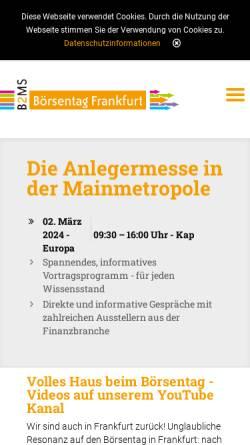 Vorschau der mobilen Webseite www.frankfurter-boersentag.de, Frankfurter Börsentag