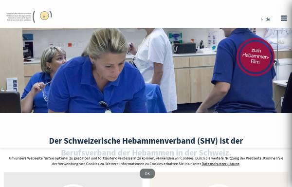 Vorschau von www.hebamme.ch, Schweizerischer Hebammenverband