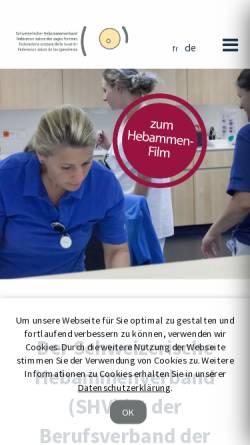 Vorschau der mobilen Webseite www.hebamme.ch, Schweizerischer Hebammenverband
