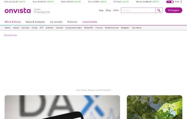 Vorschau von www.onvista.de, OnVista Media GmbH