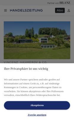 Vorschau der mobilen Webseite www.stocks.ch, Stocks