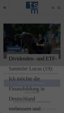 Vorschau der mobilen Webseite www.timschaefermedia.com, Tim Schäfer Media