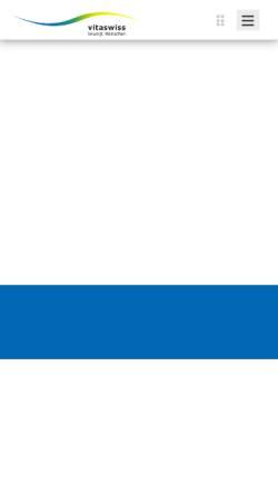 Vorschau der mobilen Webseite www.vitaswiss.ch, Vitaswiss