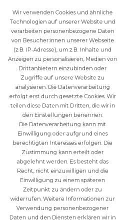 Vorschau der mobilen Webseite karten.gwindi.com, Gwindi GmbH