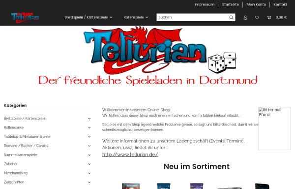 Vorschau von www.tellurian-games.de, Tellurian Games, Andrea Wille