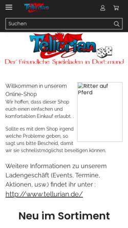 Vorschau der mobilen Webseite www.tellurian-games.de, Tellurian Games, Andrea Wille