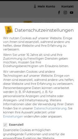 Vorschau der mobilen Webseite www.akademie-der-kuenste.de, Freie Akademie der Künste e.V.