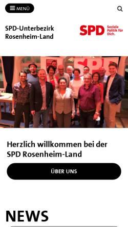 Vorschau der mobilen Webseite spd-ro-land.de, Sozialdemokratische Partei Deutschlands (SPD)