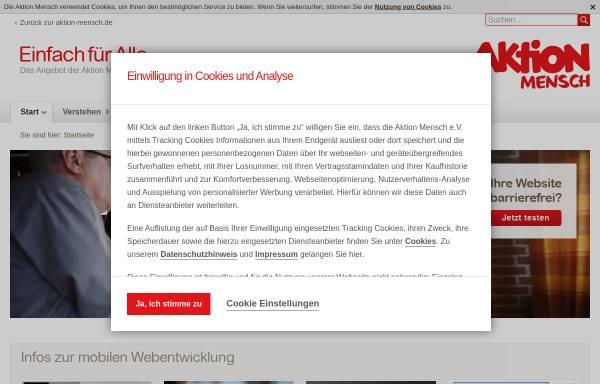 Vorschau von www.einfach-fuer-alle.de, Aktion Mensch e.V.- Einfach für alle