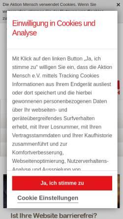 Vorschau der mobilen Webseite www.einfach-fuer-alle.de, Aktion Mensch e.V.- Einfach für alle