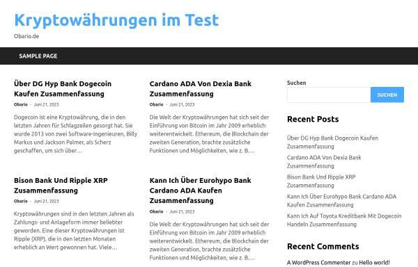 Vorschau von www.obario.de, obario.de - Verzeichnis für barrierefreie Websites