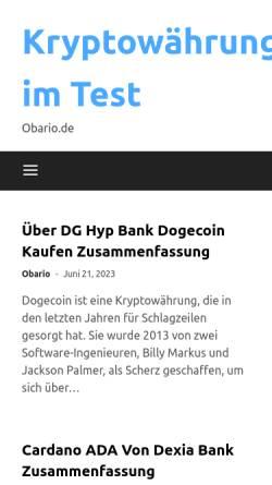 Vorschau der mobilen Webseite www.obario.de, obario.de - Verzeichnis für barrierefreie Websites