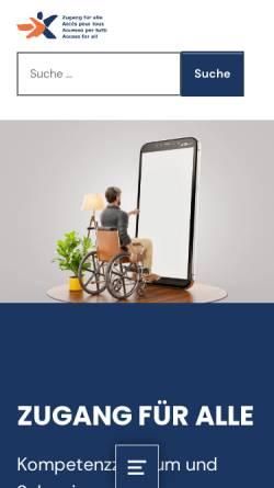 Vorschau der mobilen Webseite www.access-for-all.ch, Zugang für alle