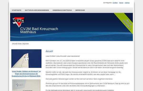 Vorschau von www.cvjm-badkreuznach.de, CVJM Bad Kreuznach, Matthäusgemeinde