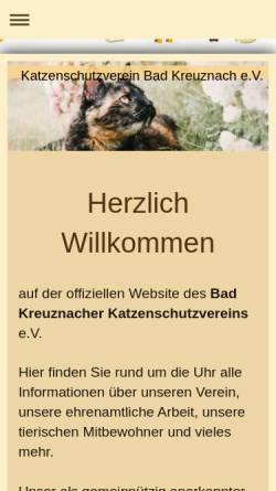 Vorschau der mobilen Webseite www.katzenschutzverein-bad-kreuznach.com, Katzenschutzverein Bad Kreuznach e.V.