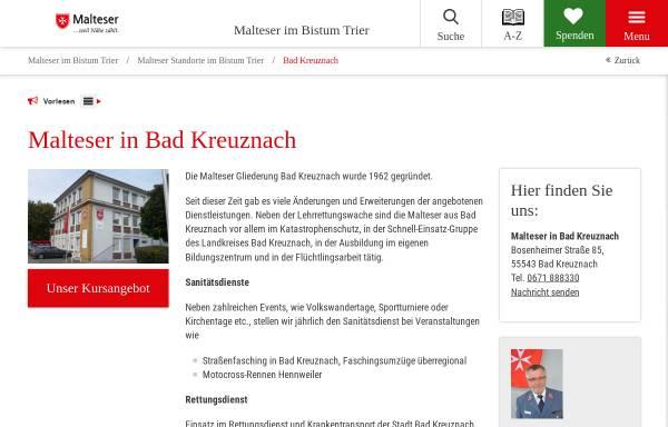 Vorschau von www.malteser-kreuznach.de, Malteser Stadtgeschäftsstelle Bad Kreuznach