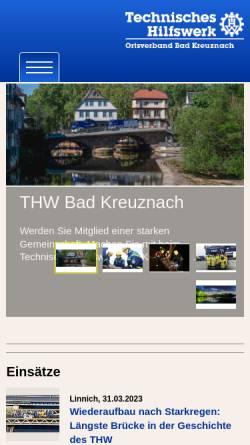 Vorschau der mobilen Webseite ov-bad-kreuznach.ov-cms.thw.de, THW Ortsverband Bad Kreuznach