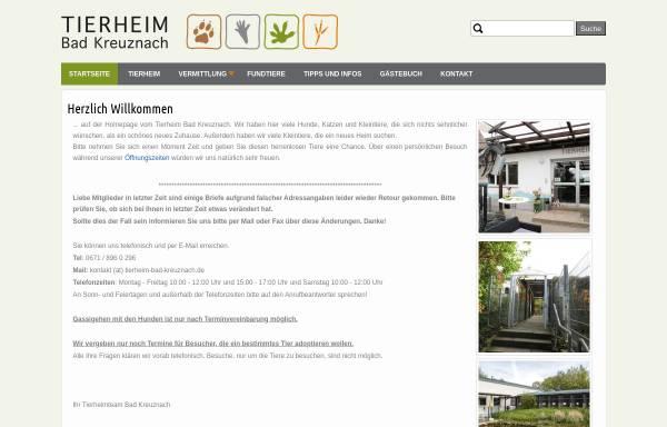Vorschau von www.tierheim-bad-kreuznach.de, Tierheim Bad Kreuznach