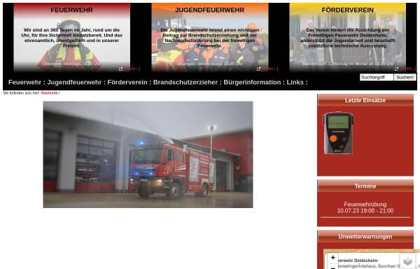 Vorschau von www.feuerwehr-deidesheim.de, Freiwillige Feuerwehr der Stadt Deidesheim