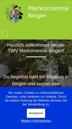 Vorschau der mobilen Webseite www.markomannia.com, Burschenschaft Markomannia e. V.
