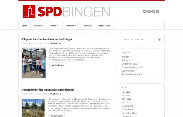 Vorschau von www.spd-bingen.de, SPD Bingen am Rhein