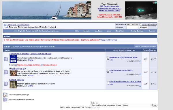 Vorschau von www.urlaubspfoten.de, Urlaubspfoten - Hilfe für Hunde und Katzen aus den Urlaubsländern Italien und Kroatien