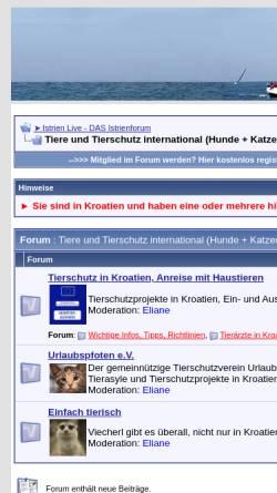 Vorschau der mobilen Webseite www.urlaubspfoten.de, Urlaubspfoten - Hilfe für Hunde und Katzen aus den Urlaubsländern Italien und Kroatien