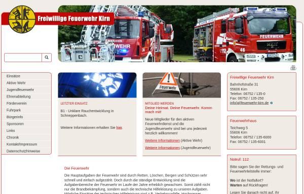 Vorschau von www.feuerwehr-kirn.de, Freiwillige Feuerwehr Stadt Kirn