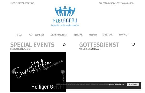 Vorschau von www.fcg-landau.de, Freie Christengemeinde Landau