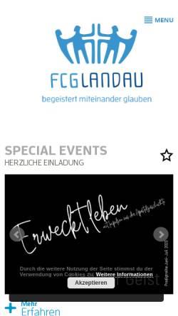 Vorschau der mobilen Webseite www.fcg-landau.de, Freie Christengemeinde Landau