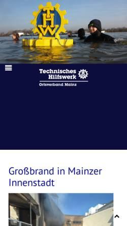 Vorschau der mobilen Webseite www.thw-mainz.de, THW Ortsverband Mainz