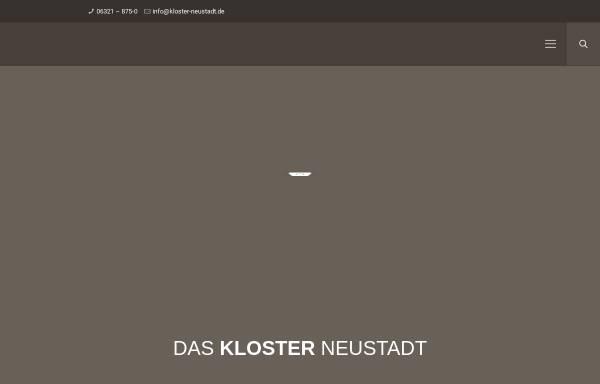 Vorschau von www.kloster-neustadt.de, Herz-Jesu-Kloster Neustadt