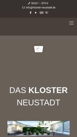Vorschau der mobilen Webseite www.kloster-neustadt.de, Herz-Jesu-Kloster Neustadt