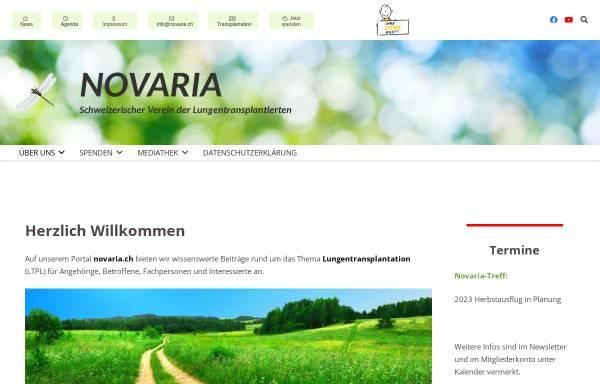 Vorschau von www.novaria.ch, Schweizerischer Verein der Lungentransplantierten