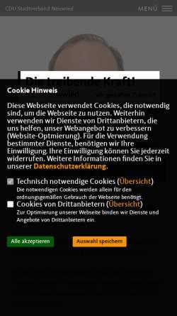 Vorschau der mobilen Webseite www.cdu-neuwied.de, CDU - Stadtverband Neuwied