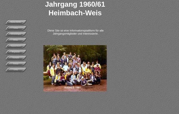 Vorschau von www.k-schmitz.de, Jahrgang 1960-61 Heimbach-Weis