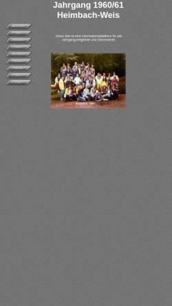 Vorschau der mobilen Webseite www.k-schmitz.de, Jahrgang 1960-61 Heimbach-Weis