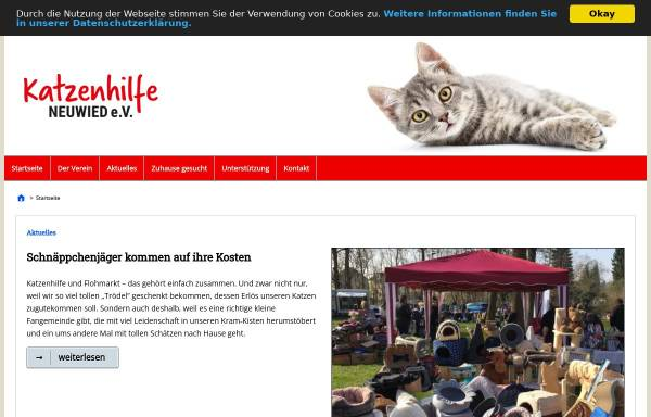 Vorschau von www.katzenhilfe-neuwied.de, Katzenhilfe Neuwied e. V.