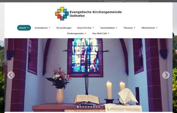Vorschau von www.ev-osthofen.de, Evangelische Kirchengemeinde Osthofen