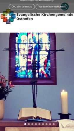 Vorschau der mobilen Webseite www.ev-osthofen.de, Evangelische Kirchengemeinde Osthofen